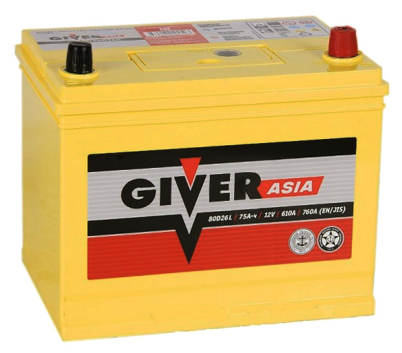 GIVER ASIA  6СТ-75.0 VL3 (80D26L)